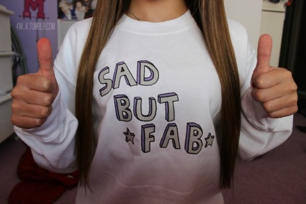 sweater sweatshirt stars sassy fab fabulous sad but skreened