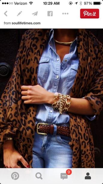 cardigan leopard print baggy cardigan