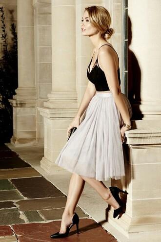 skirt tulle skirt grey