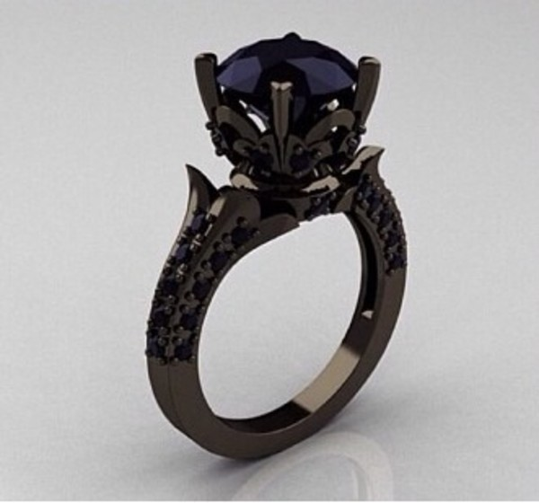 jewels ring black diamonds