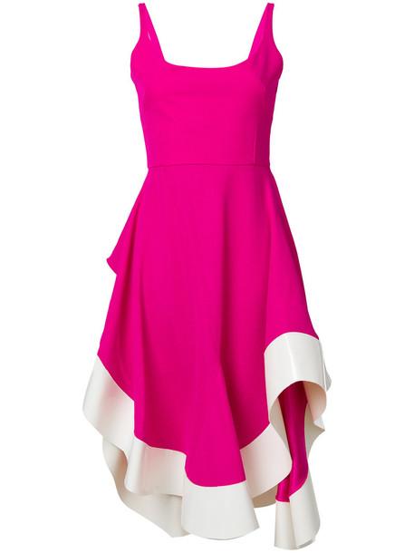 Esteban Cortazar dress midi dress back open flowy open back women midi spandex purple pink