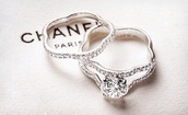 jewels,ring,chanel,flower ring,rings and tings,engagement ring,wedding accessories
