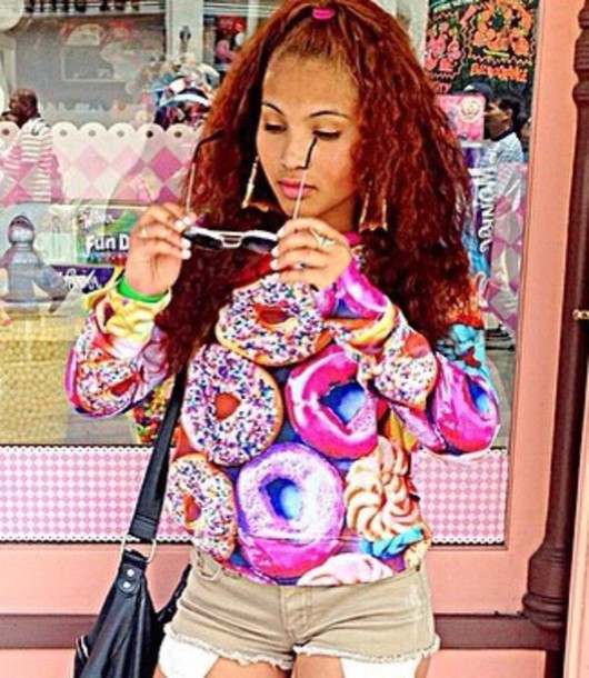 sweater color/pattern sweet donut donut sweater