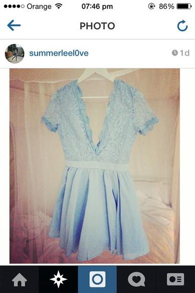baby blue tiffany blue style bkue summer dress posh autumn fashion fall outfits stylish styke backless dress backless dress with