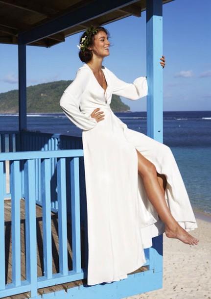 dress boho maxi dress long dress long sleeves