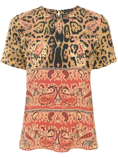 Etro - baroque patterned blouse - women - Silk - 46, Silk