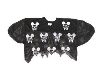 t-shirt black jersey mickey mouse