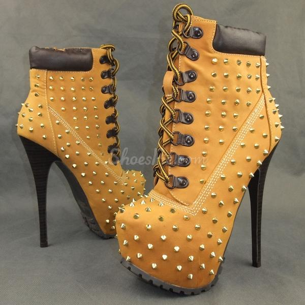 Popular Stiletto Heels Ankle Boots with Rivets