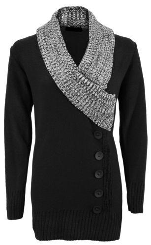 NEW LADIES KNITWEAR 5 BUTTON V NECK JUMPER WOMENS KNITTED DRESS   eBay