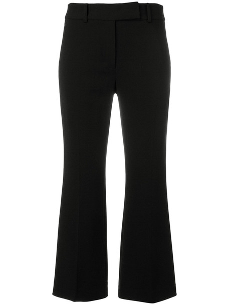 cropped women spandex black pants