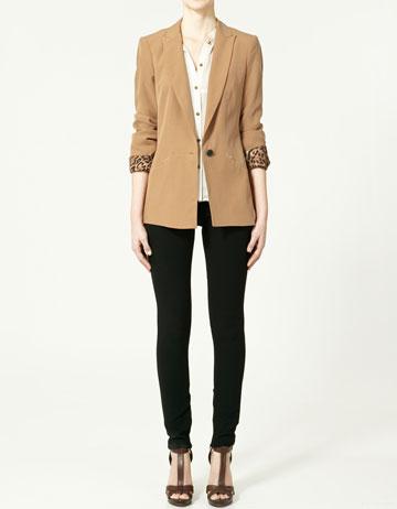 blazer un bouton vestes collection femme zara france. Black Bedroom Furniture Sets. Home Design Ideas