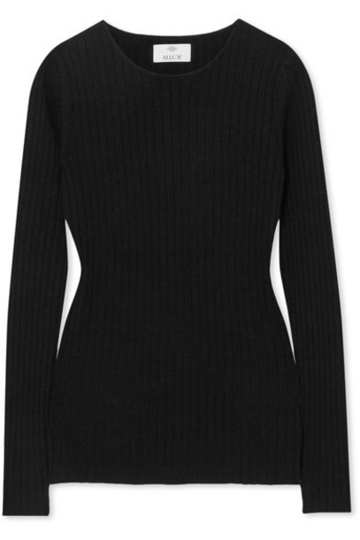 Allude sweater black knit