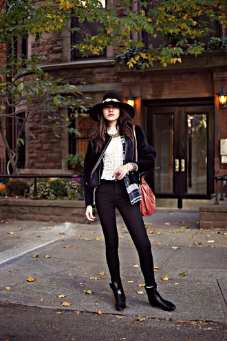 natalie off duty jewels jacket blouse shirt jeans shoes