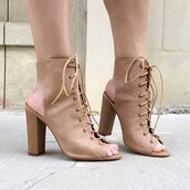 shoes,booties,tan booties,cut-out booties,boots,tan,camel,camel shoes,nude,gojane