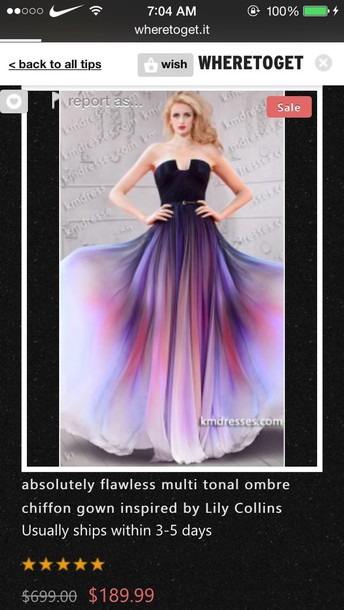 dress ombre dress lilly collins