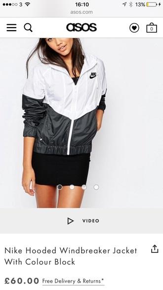 jacket nike windbreaker black and white nike windbreaker