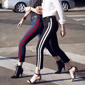 jeans,stripes,striped jeans,cut-out,hollou out,black,black and white,elastic jeans,urban,casual,casual chic,chic,lookbook,skinny,tight,tight jeans,clubwear,club pants,black pants,black and white pants,boot cut,boots,preppy,pretty,cute,cute pants,cozy,american apparel,girl,girly,fashion,moraki,skinny jeans,ripped jeans,cut offs,black jeans,high waisted,high waisted jeans,streetstyle,streetwear,street,style,stylish,girly wishlist,tumblr outfit,tumblr girl,tumblr jeans,holiday season,holiday gift