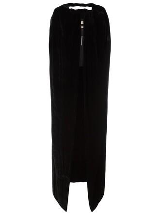 cape velvet black top