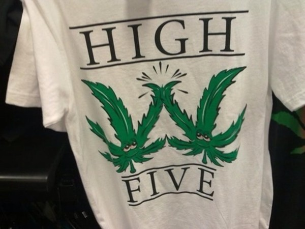 t-shirt marijuana high heels t-shirt
