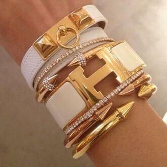 jewels leather bracelet stacked bracelets gold bracelet cuff bracelet hermes jewelry bracelets