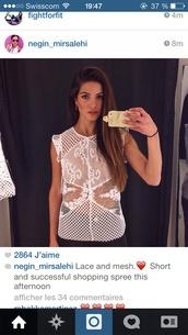 t-shirt,negin_mirsalehi #t-shirt#white#lace