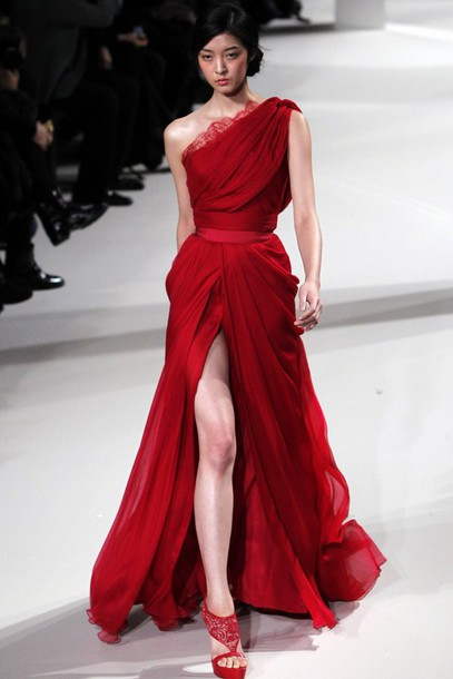 red dress chiffon dress long dress evening dress dress