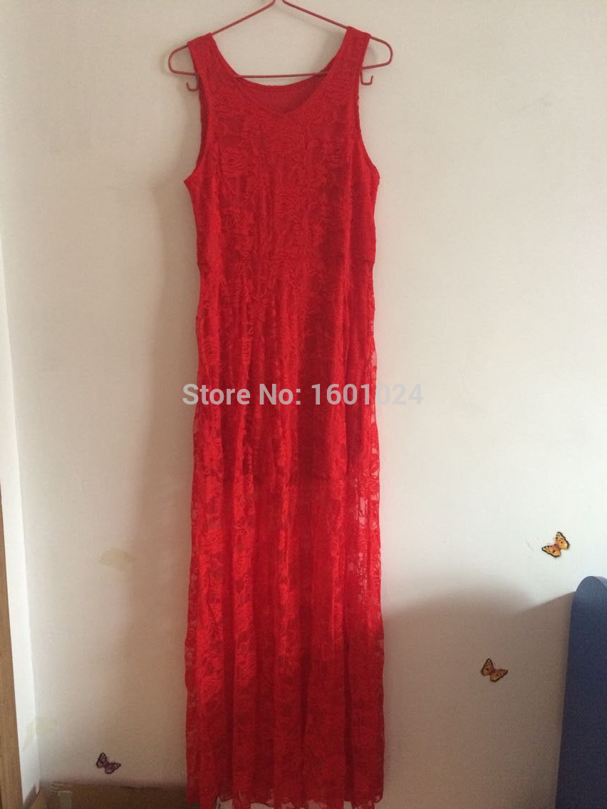 New 2015 Sexy Red Lace Dress Long Sleeveless O Neck Dress Fashion Elegant Women Winter Dress Vestidos Free Shipping DS 156-in Dresses from Women's Clothing & Accessories on Aliexpress.com | Alibaba Group