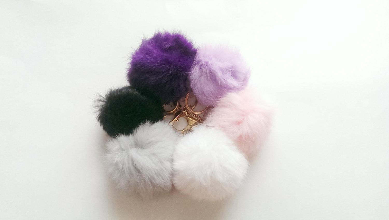Plush Fur Keychain