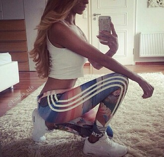 tights adidas leggings blonde girl blonde hair blondes girly girl nike nike air nike running shoes nike air max 90 nike hyper fuse air force 1 iphone 5 case iphone 5 iphone 5s floral rug white crop tops body tight classy swag swaggie swaggy