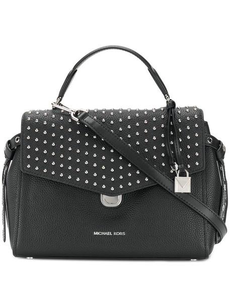 satchel women leather black bag