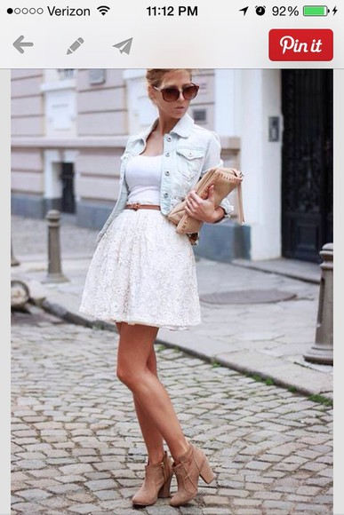 dress lace dress lace jacket denim