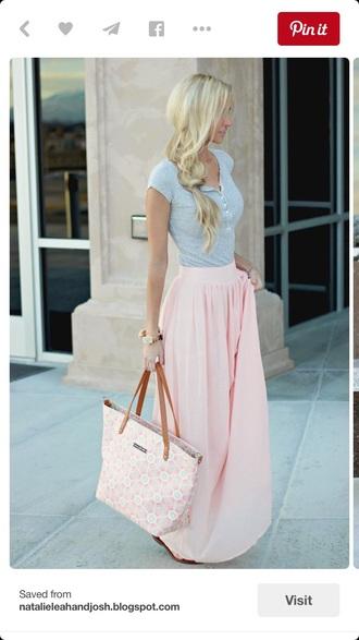 skirt pink skirt summer outfits