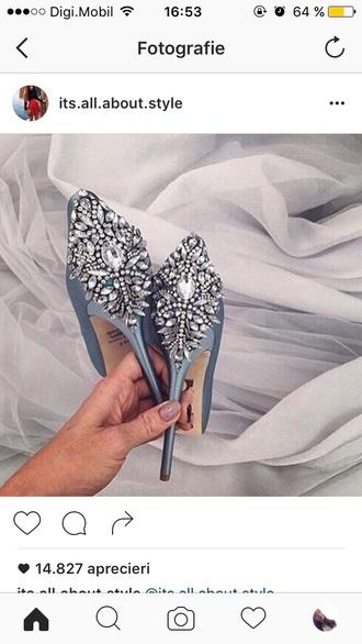 shoes blue high heel pumps blue heels