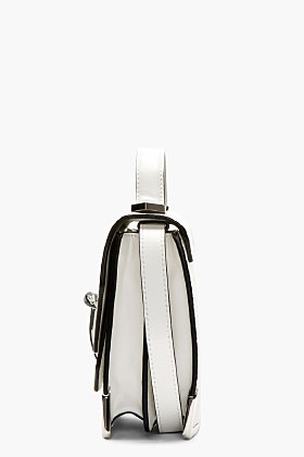 Mackage White Pebbled Leather Rubie Shoulder Bag for women | SSENSE