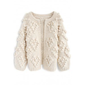 Knit Your Love Cardigan in Ivory