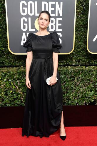 dress amanda peet black dress maxi dress red carpet dress golden globes 2018