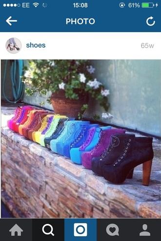 shoes purple boots heels black pink blue purple shoes yellow brown pastle blue pastel