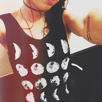 t-shirt moon time rock night