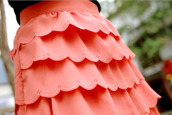 skirt,spring outfits,coral skirt,layers,pretty,girly