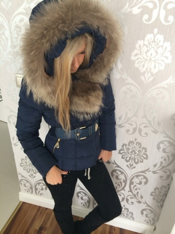 Free Shipping Women S Quilted Coat With Fur Lined Hood And