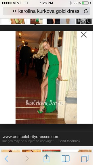 dress long dress green dress karolina kurkova