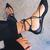 Black Lace Up Pointed Ballet Flats