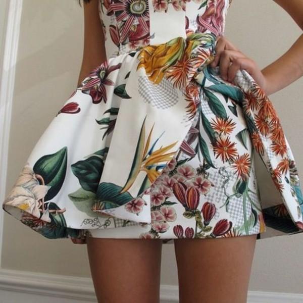 dress clothes floral dress