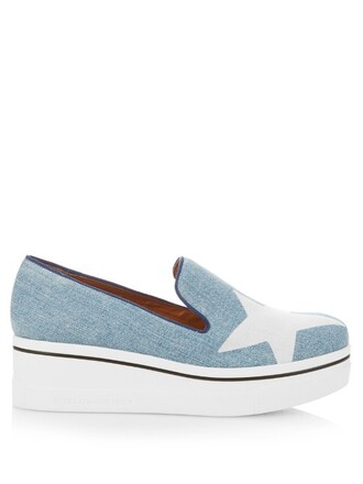 denim loafers print shoes
