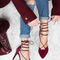 Seychelles bauble burgundy suede leather lace-up heels