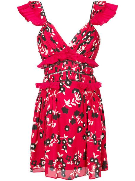 dress mini dress mini women floral print red