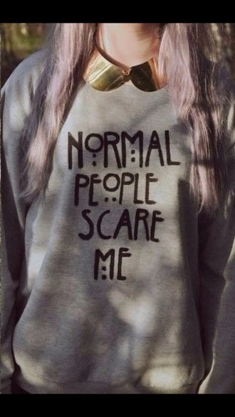 sweater american horror story ahs normal people scare me tate langdon sweatshirt tumblr