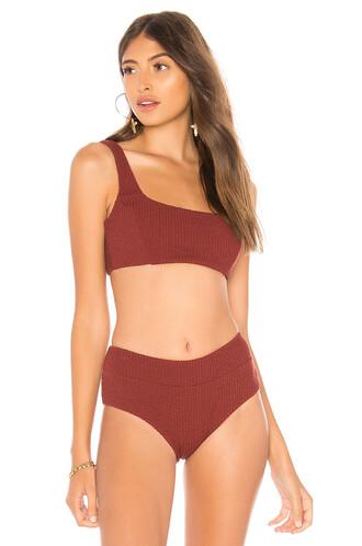 bikini bikini top burgundy swimwear
