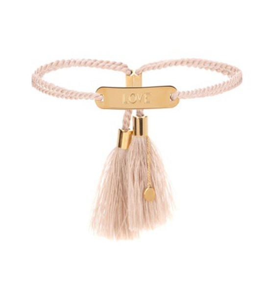 Chloé Tasselled Bracelet in pink