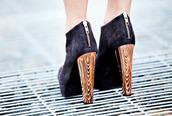 high heels,shoes,platform shoes,boots,black shoes,gold heel
